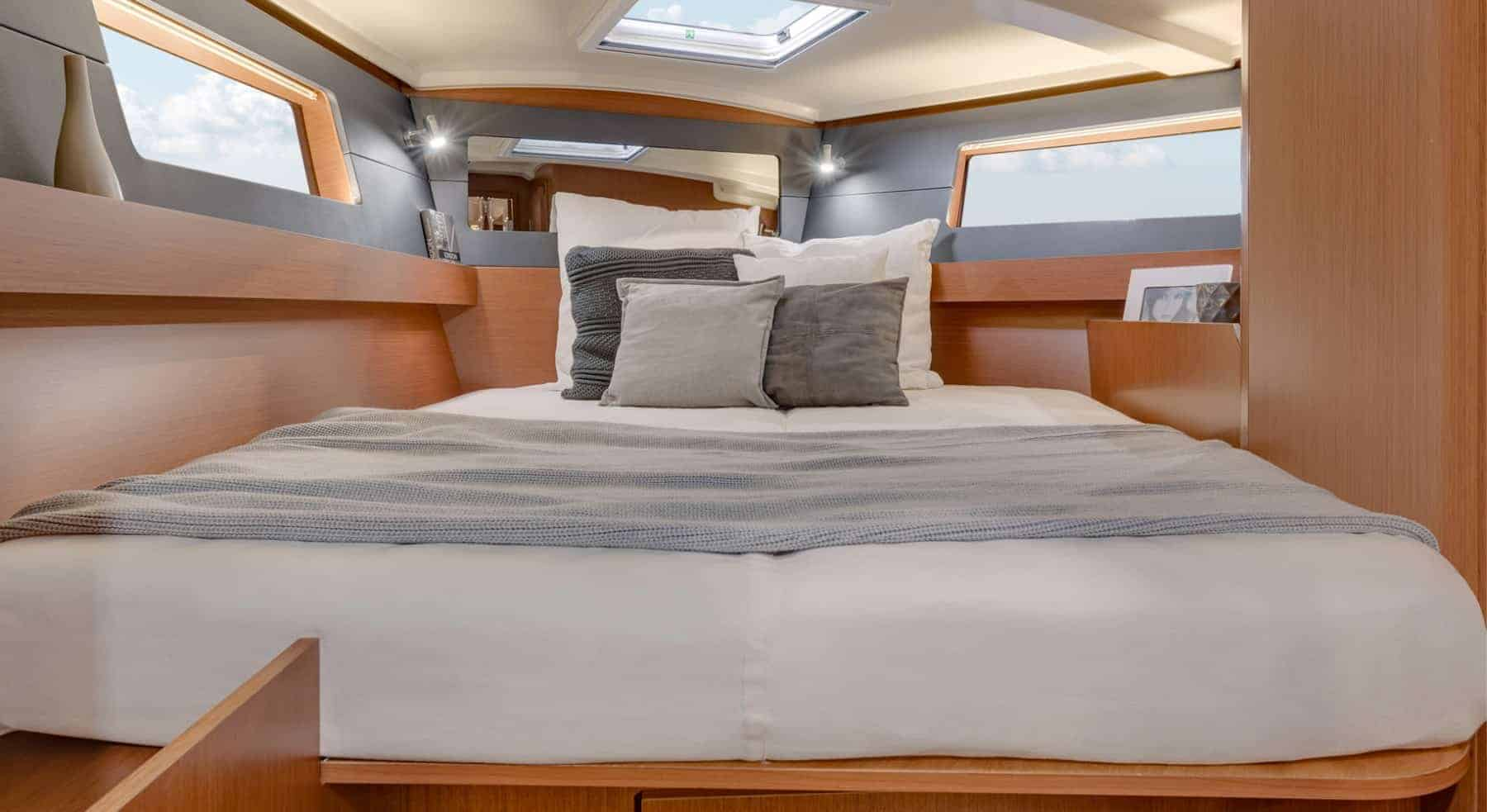 Comfy and massive double bed option in the cabins