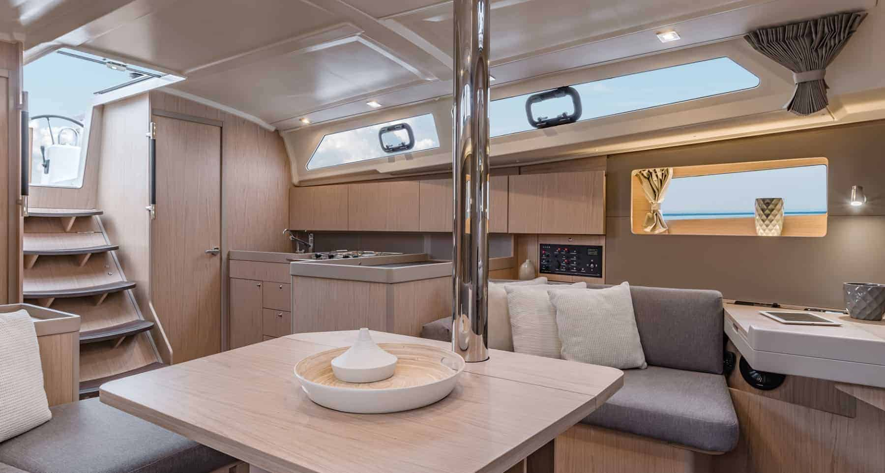 Beautiful kitchen area of the Benetau Oceanis 41.1