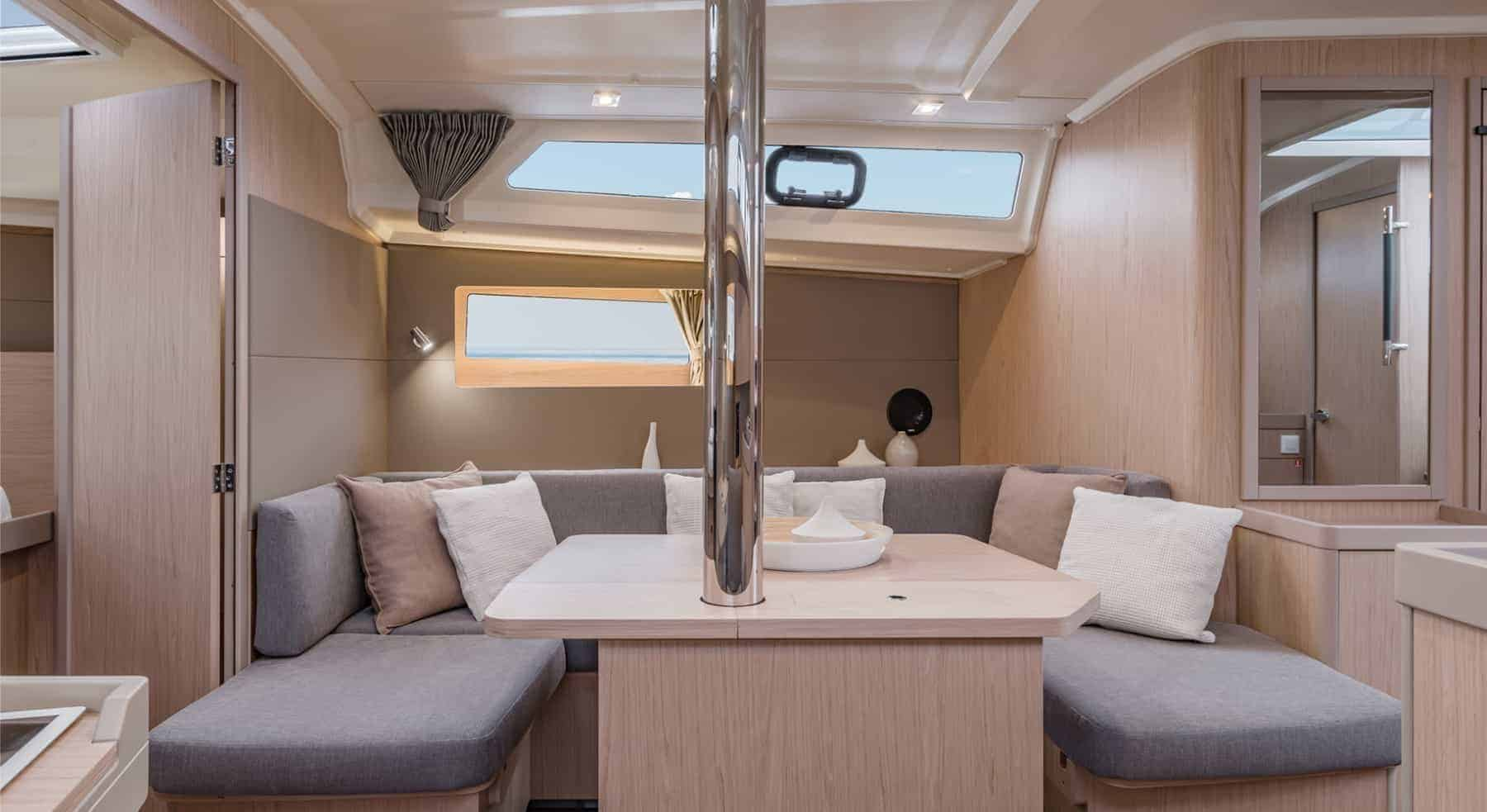 Comfortable and cozy sofa in the Beneteau