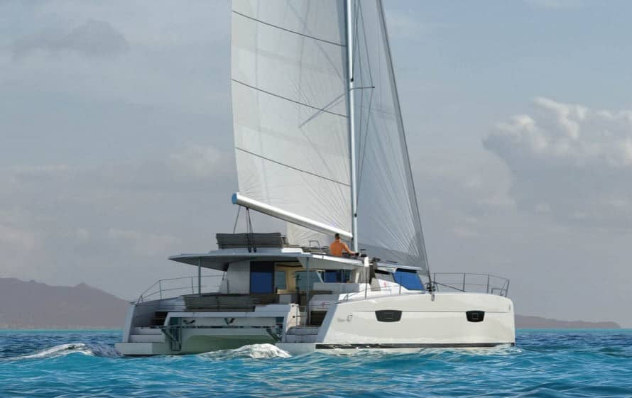 Fountaine Pajot Saona 47 with wind in its sail