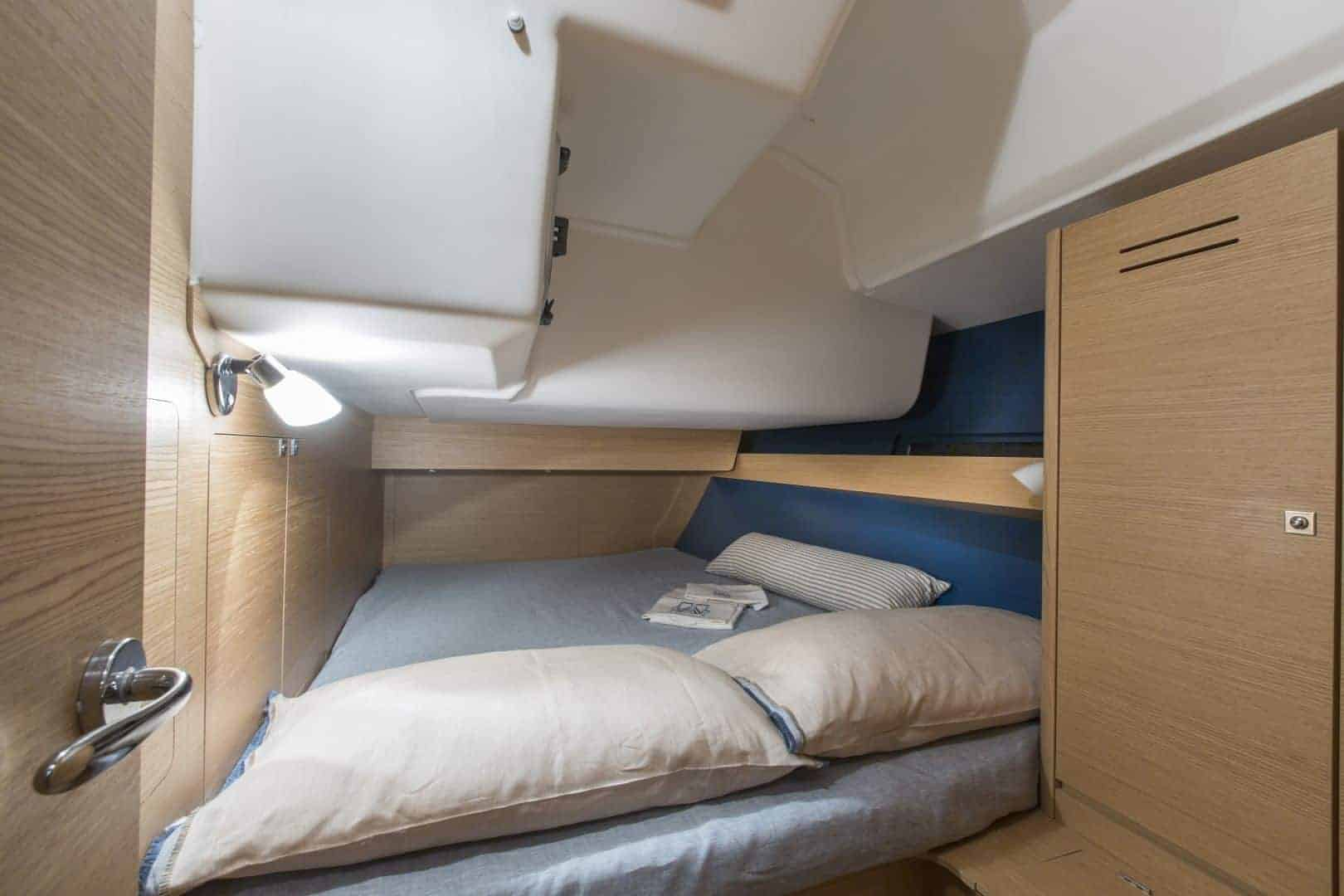 Dufour GL 460 cabin with nice bed