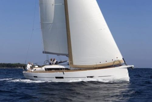 Dufour Grand Large 460 sailing elegantly with wind in its sail