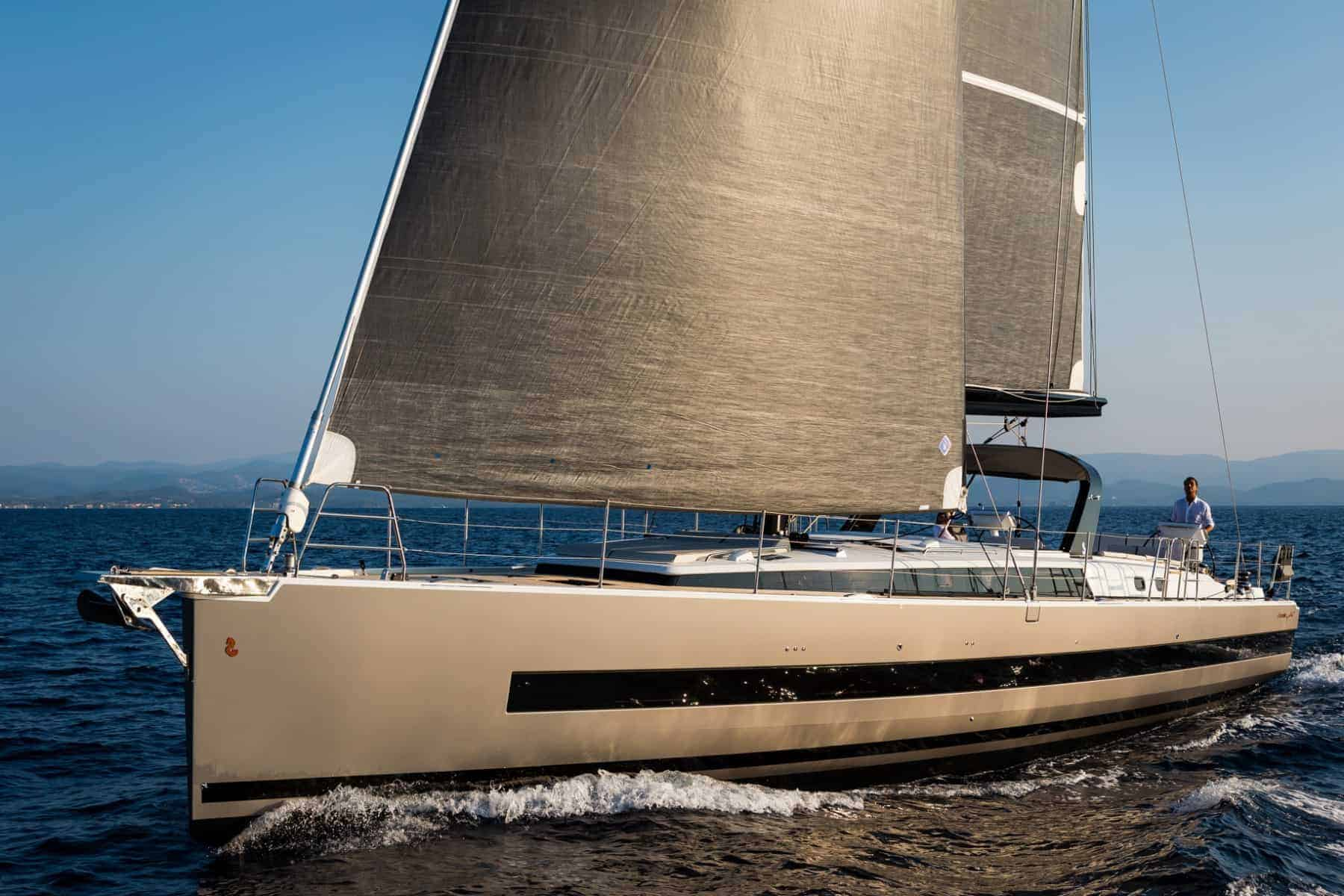 The Beneteau Oceanis Yacht 62 in action