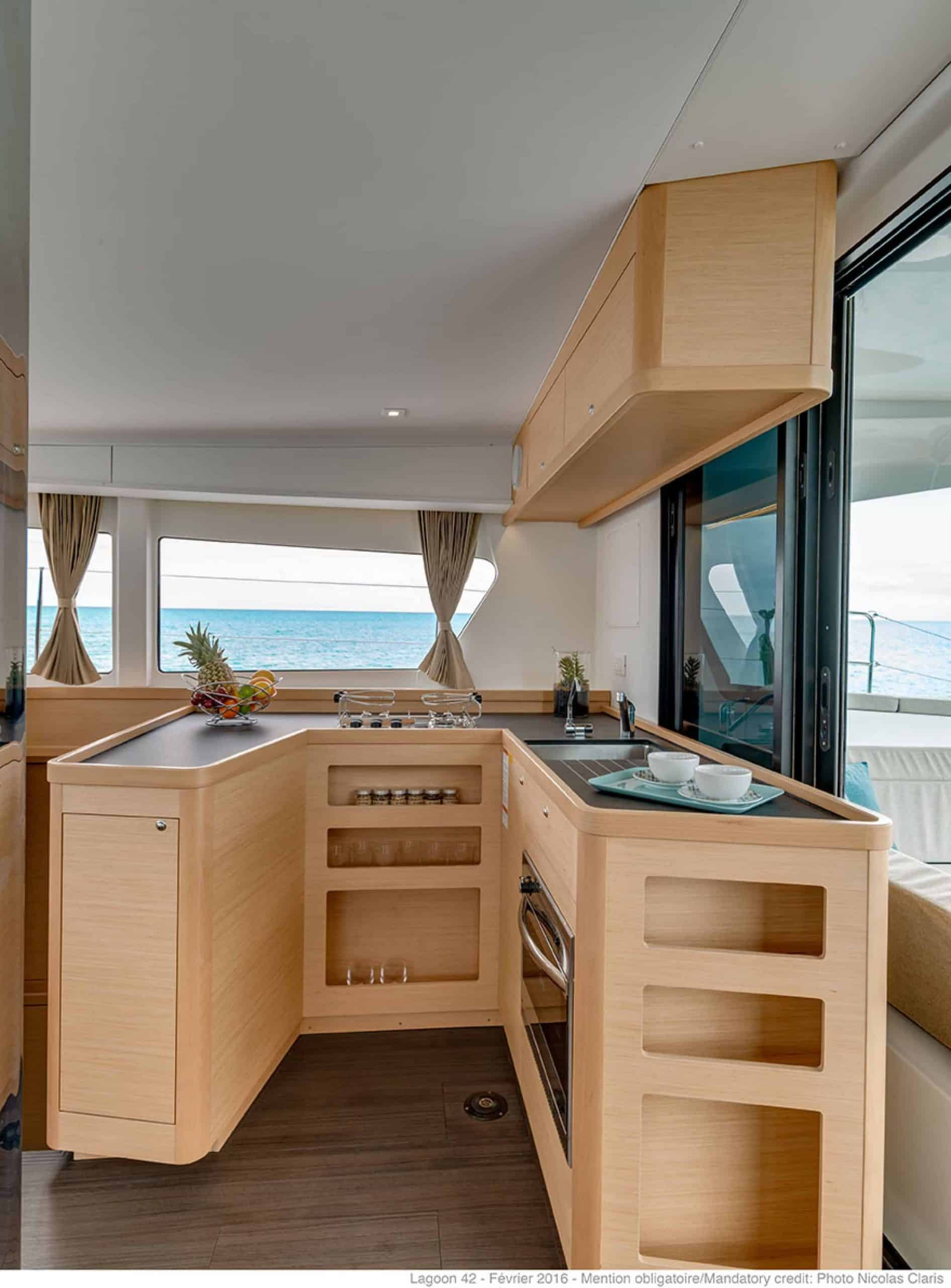 Amazing and simplistic galley of the lagoon 42
