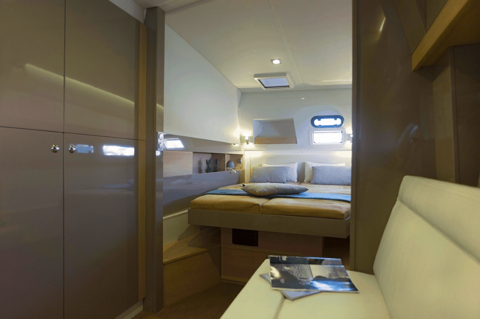 A good looking cabin in one of the hulls of a Bali 4.5