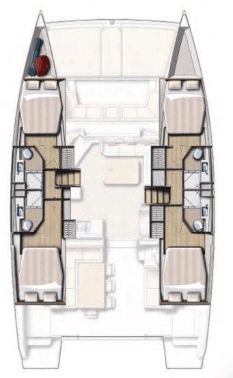 Bali 4.5 animated layout from above showing different hull options
