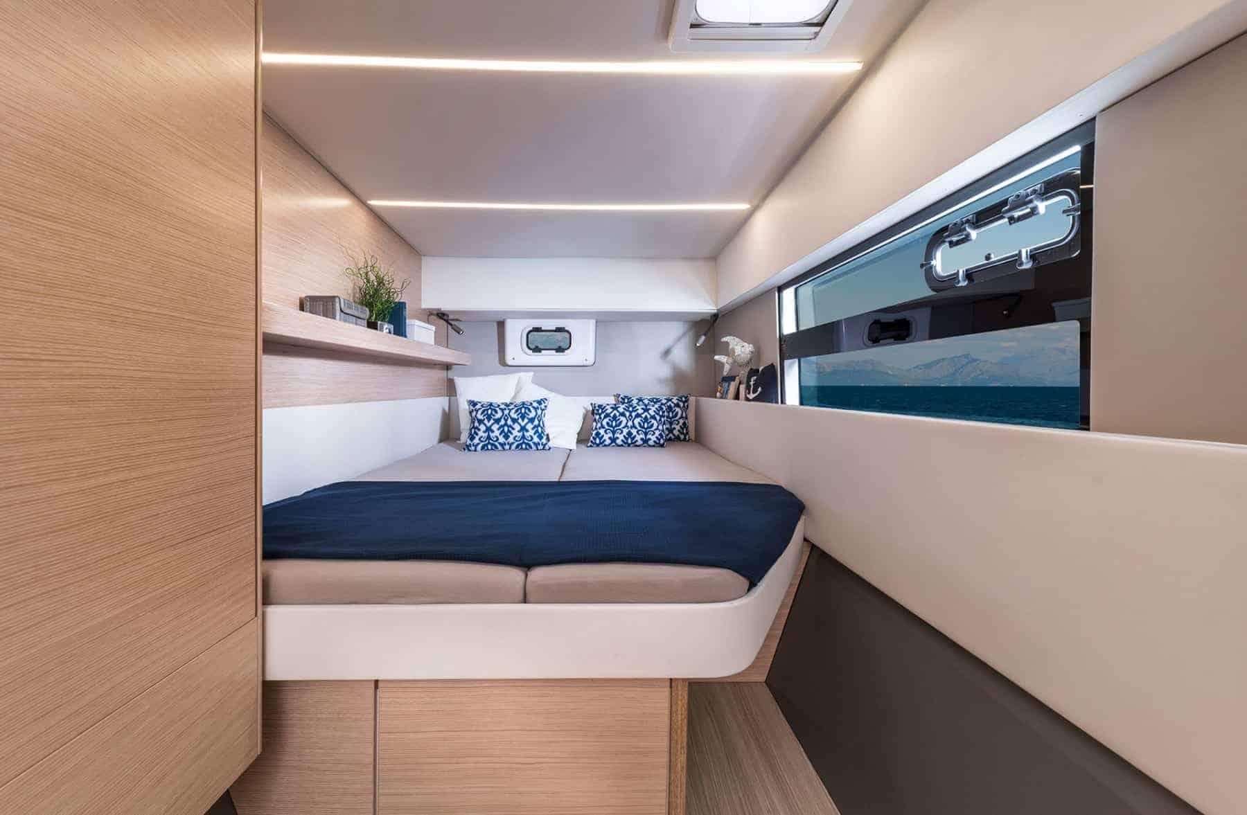 Bavaria-Nautitech-40-open-interior-cabin-1-charter-ownership-yacht