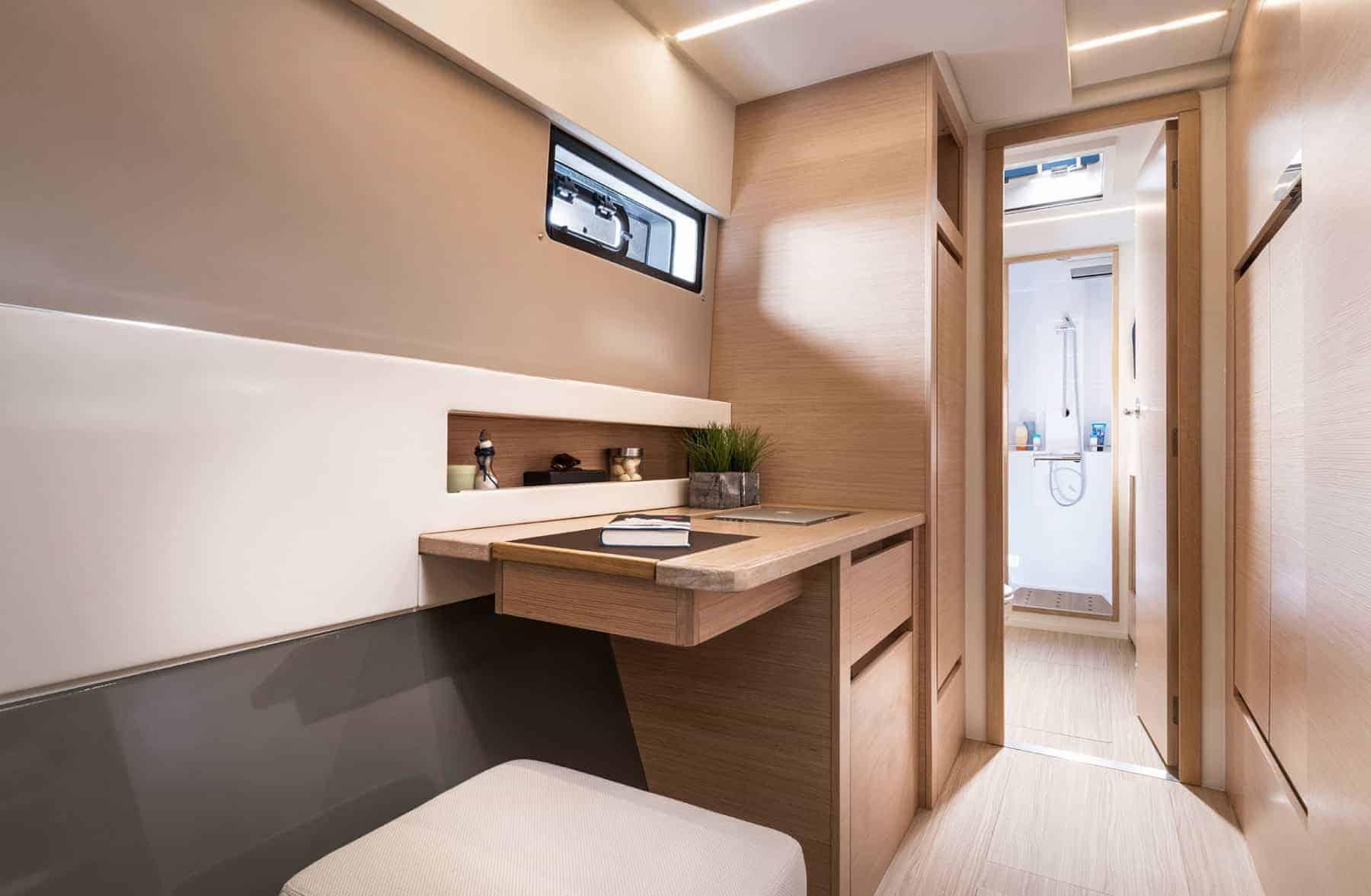 Bavaria-Nautitech-40-open-interior-cabin-3-charter-ownership-yacht