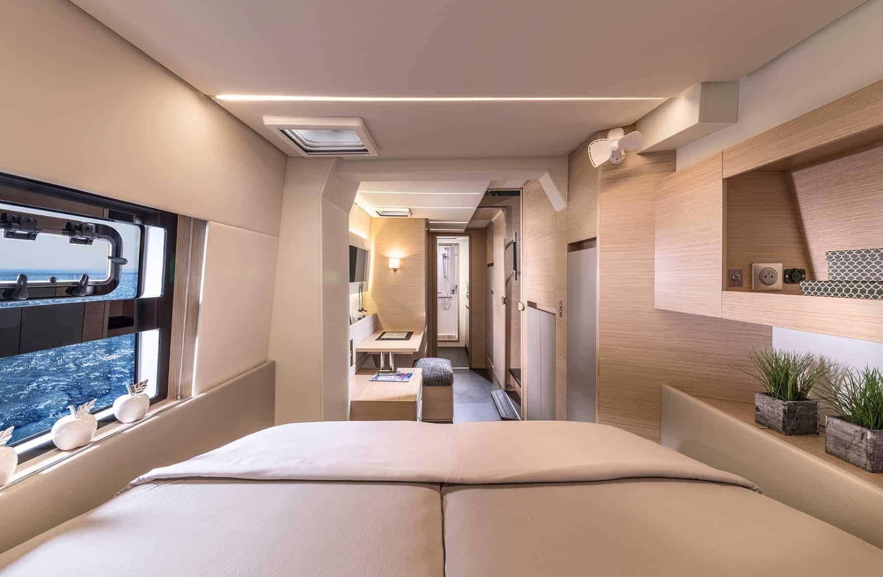 Bavaria-Nautitech-47-power-interior-cabin-2-charter-ownership-yacht