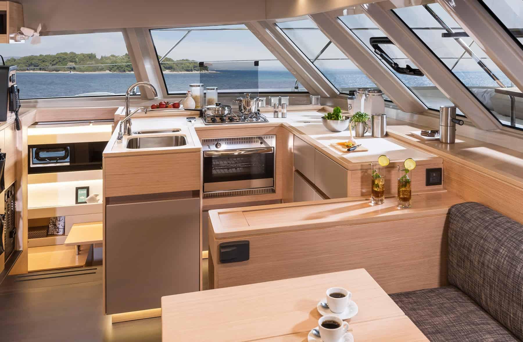 Bavaria-Nautitech-47-power-interior-galley-1-charter-ownership-yacht