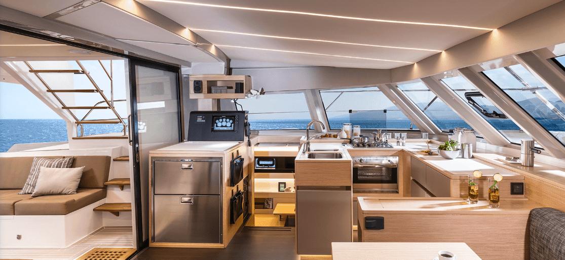 Bavaria-Nautitech-47-power-interior-galley-2-charter-ownership-yacht