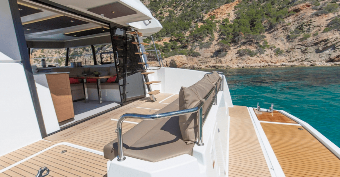 Cockpit area of the Fountaine Pajot Motor Yacht 37
