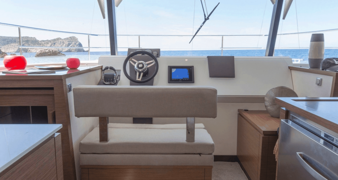 Beautifully designed navigation area of the Fountaine Pajot Motor Yacht 37