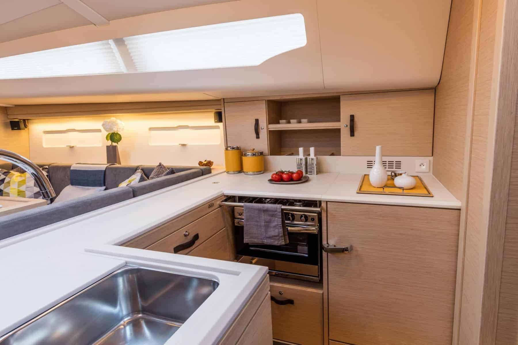 Jeanneau-51-interior-galley-1-charter-ownership-yacht