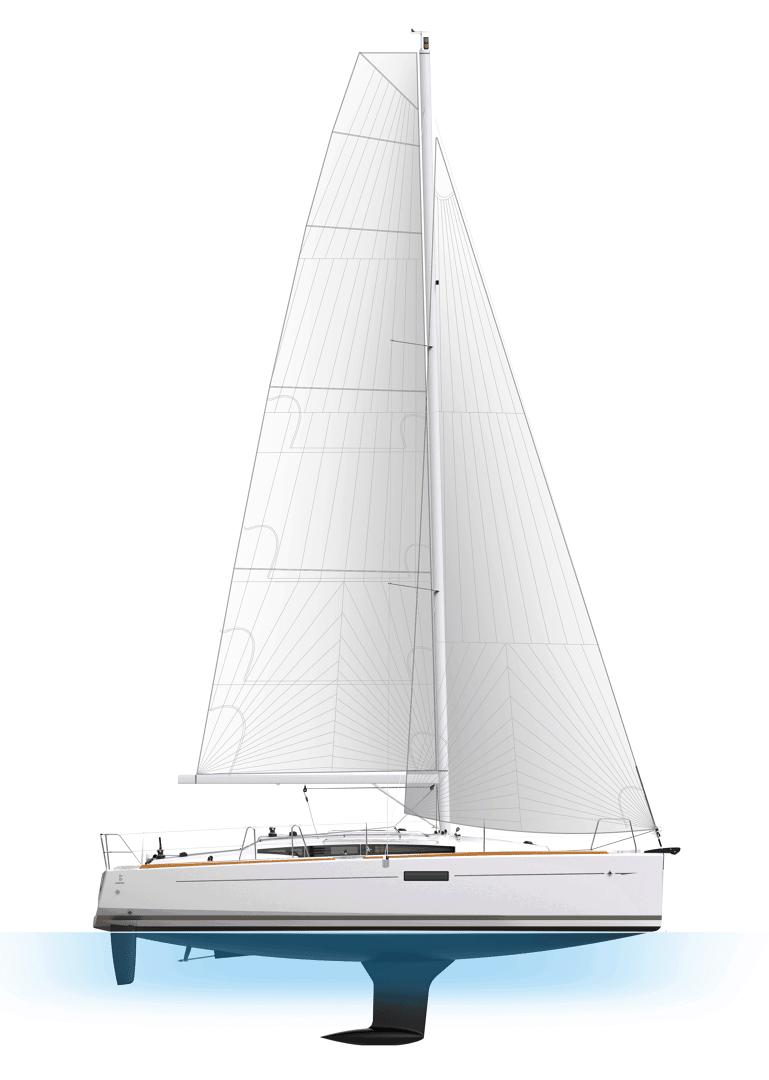 Jeanneau Sun Odyssey 349 in profile