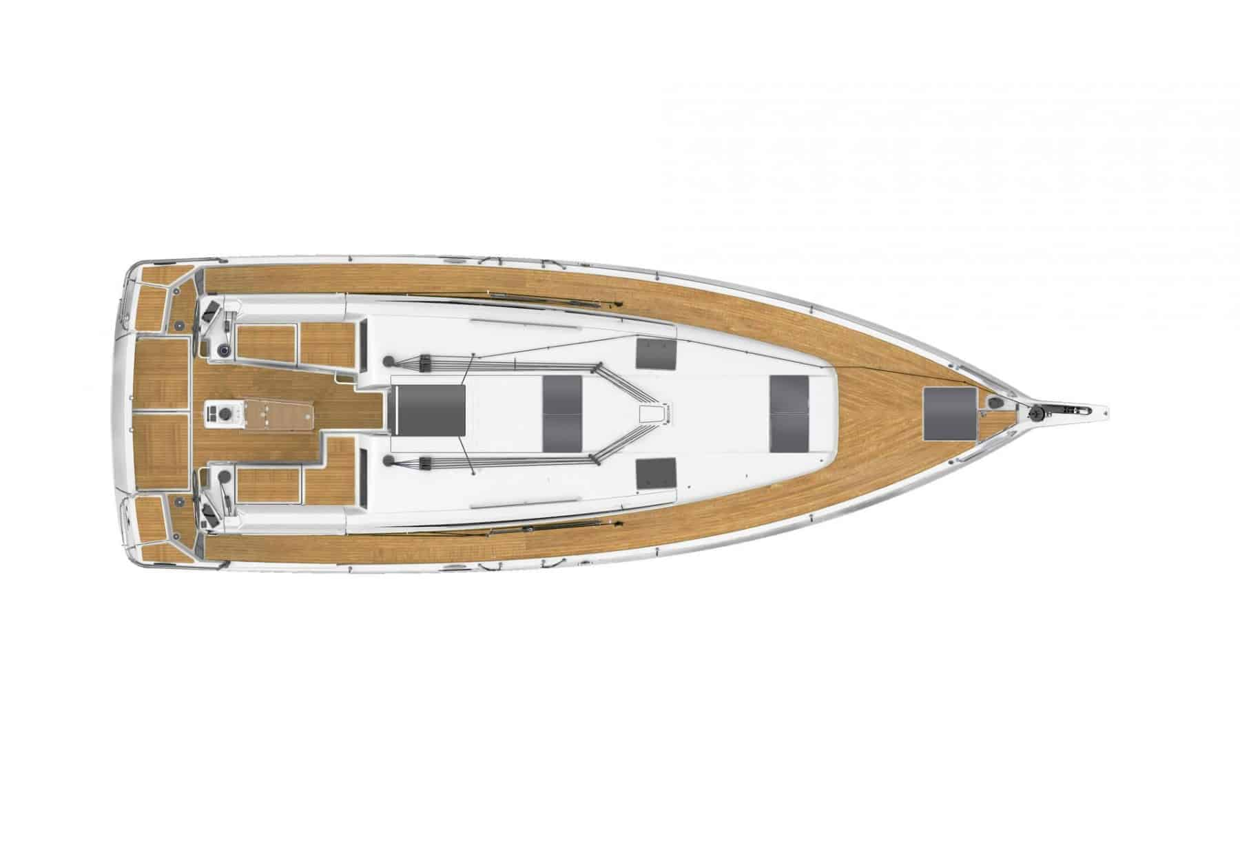 Overview of the exterior of the Jeanneau Sun Odyssey 440