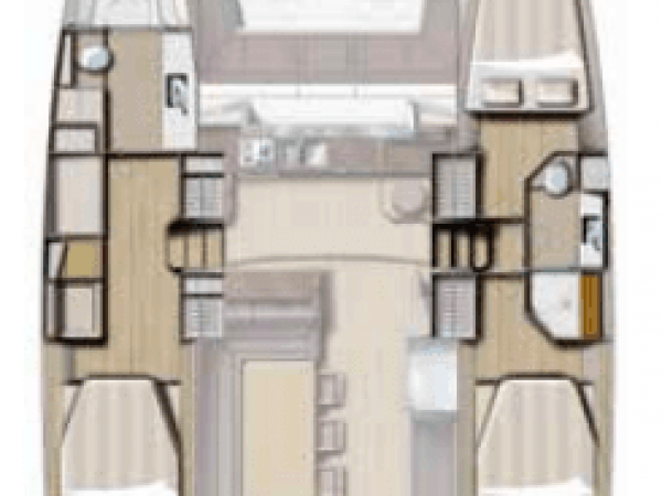 Layout from above showing different hull options for the Bali 4.3 Loft