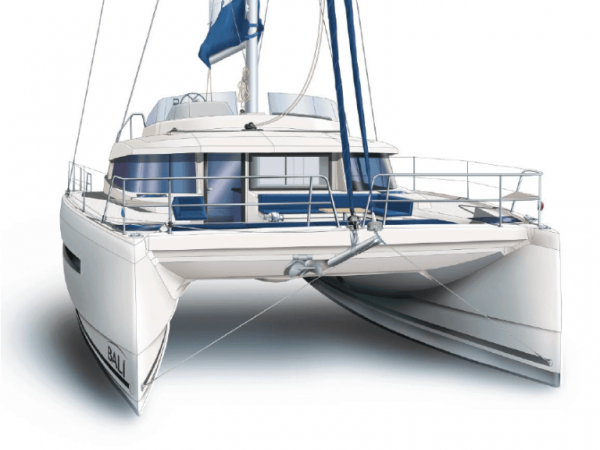 Animated exterior layout of the Bali 5.4 from the front