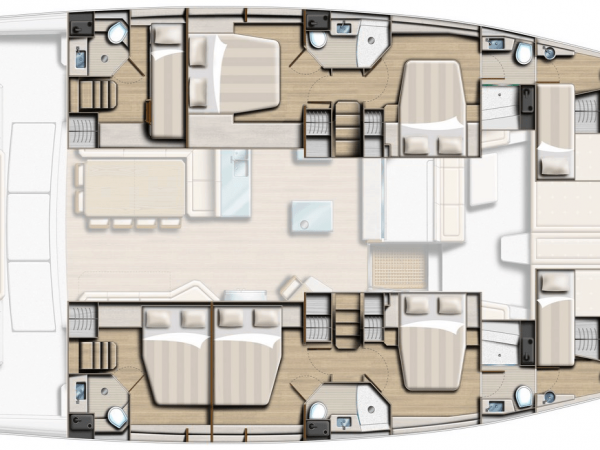 Layout from above showing different hull options