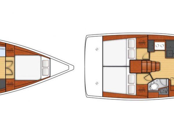 Beneteau OCEANIS 38.1 layout