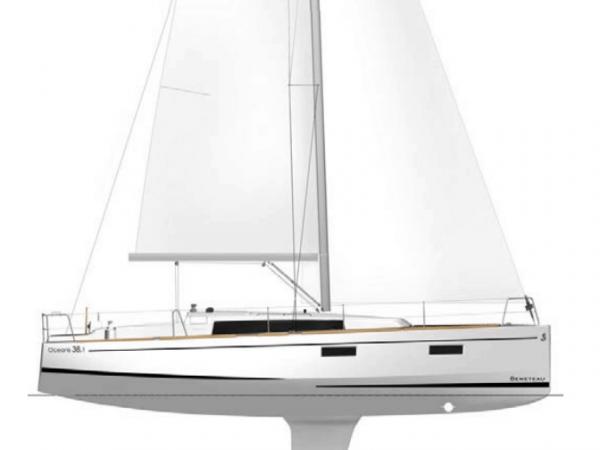 Sketch of the Beneteau Oceanis 38.1