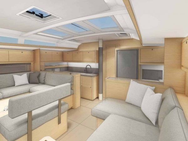 Dufour 530 saloon galley