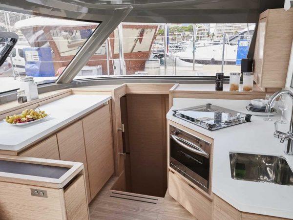 Bavaria-Nautitech-40-open-interior-galley-1-charter-ownership-yacht