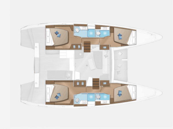 4 cabin layout plan of the lagoon 42