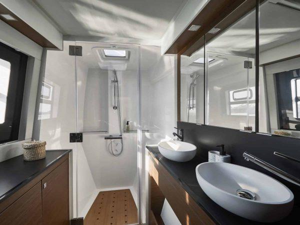 Bavaria-Nautitech-46-fly-interior-head-charter-ownership-yacht