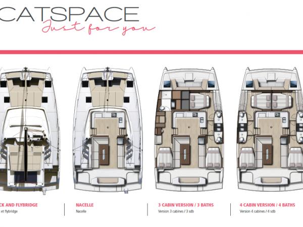 Bali Catspace layout cabins heads