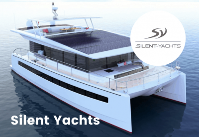 Silent yacht and logo