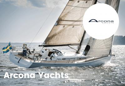Arcona yachts logo with boat