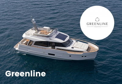 Greenline yachts logo with boat