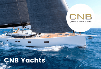 CNB Yachts logo with boat