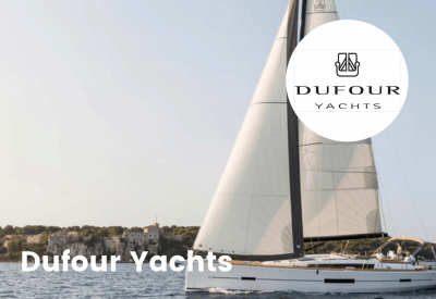 Dufour yachts logo with boat