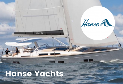 Hanse yachts logo with boat