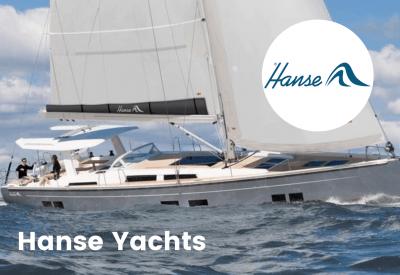 Hanse yachts logo with boat