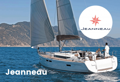 Jeanneau logo with boat