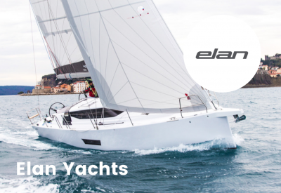 Elan yachts logo with boat
