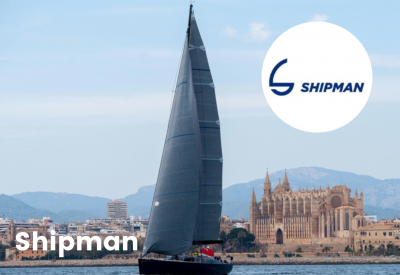 Shipman logo with boat