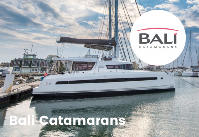Bali yacht logo with boat