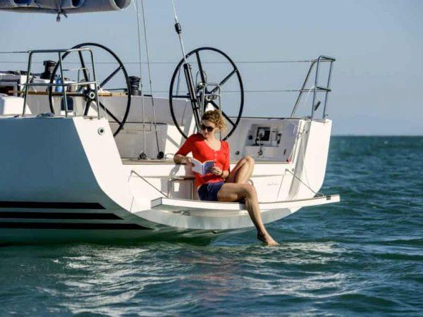 X-Yachts X46 sailing bathing-platform