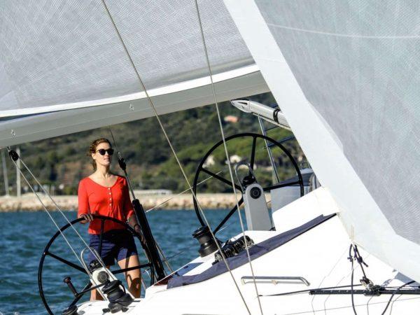 X-Yachts X46 sailing lady