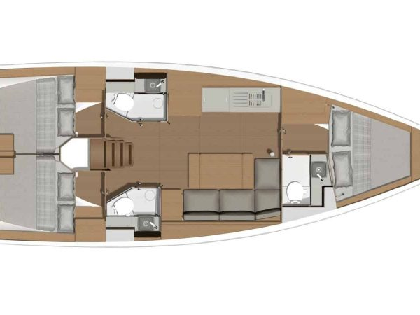 dufour 390 layout 3 cabins