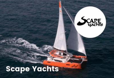 scape yacht with logo